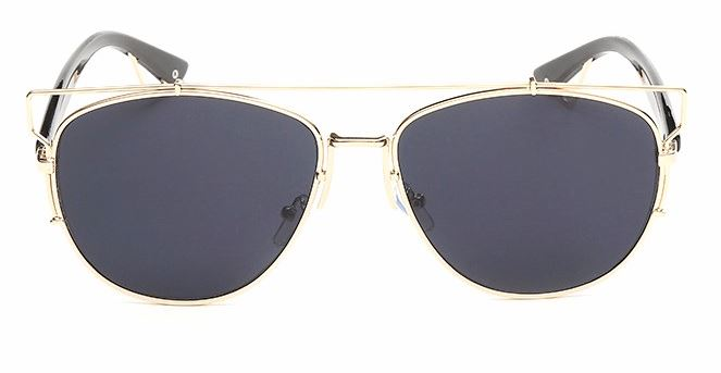 Gold Frame With Gray Lens