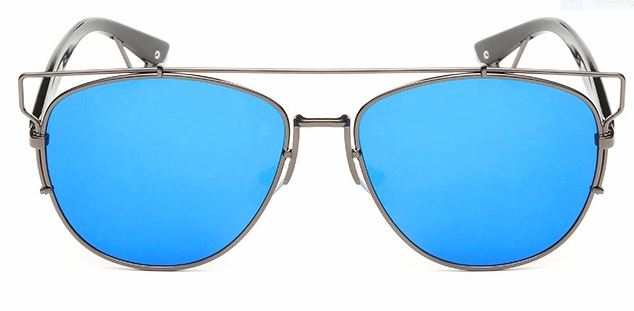 Gray Frame With Blue Lens
