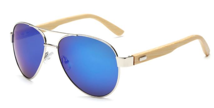 Silver Frame With Blue Lens