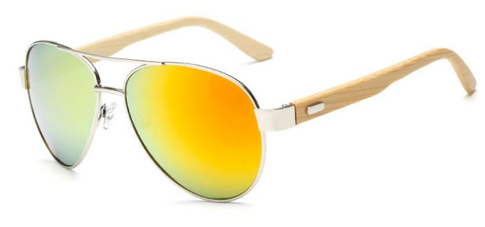 Silver Frame With Gold Lens
