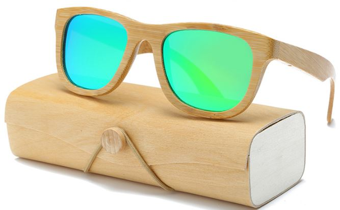 Wood Grain With Green Lens