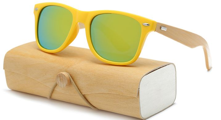 Yellow Frame With Gold Lens